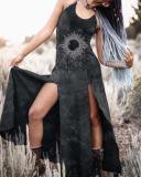 Ladies Vintage Split Dress
