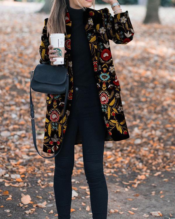 Autumn And Winter Fashion Prints To Trim Warm Jacket
