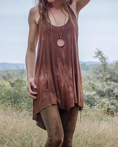 Women's Vintage  Backless Dress