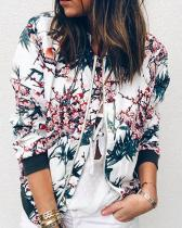 Casual Long Sleeve Floral Print Jacket