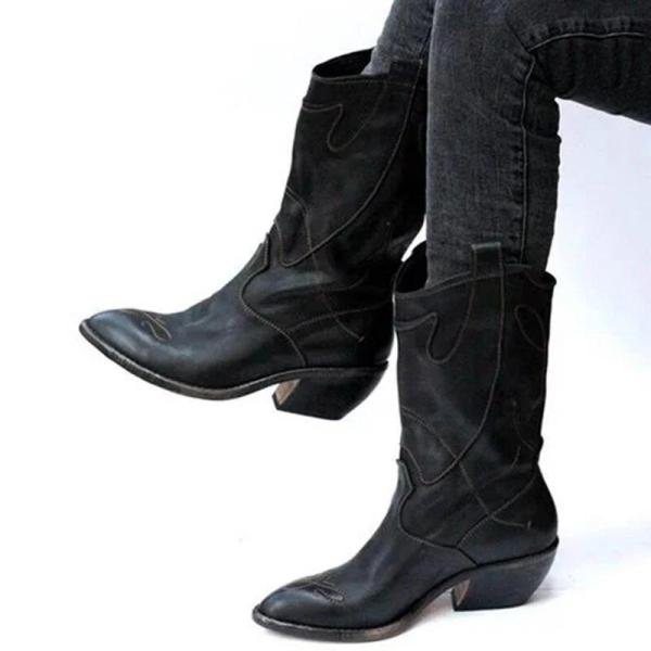 Winter Mid Tube Wide Calf Knight Boots