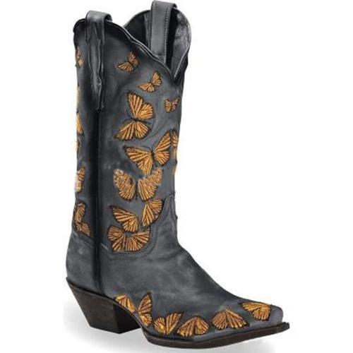Women Butterfly Printed Ankle Boots