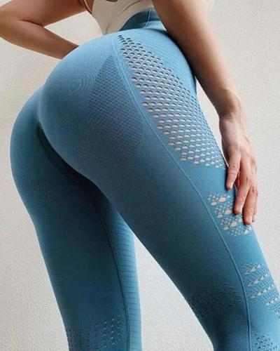 Women Seamless High Waist Leggings Peach Hip