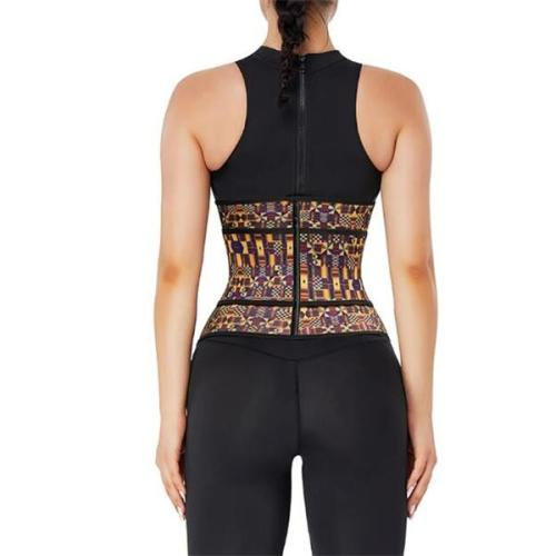 Fitness  African Printing Latex Waist Trainer Fashion Comfort
