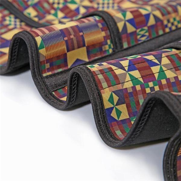 Fitness  African Printing Latex Waist Trainer Fashion Comfort