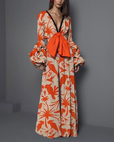 Women Fashion V-neck Elegant Jumpsuits