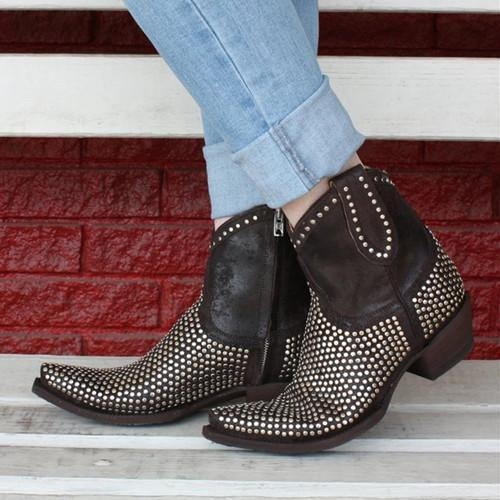 Women Rivet Ankle Boots