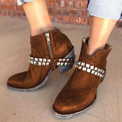 Pu All Season Chunky Heel Boots