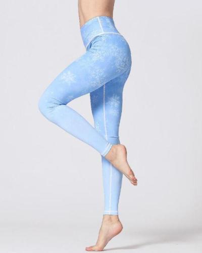 Stretchy Print High Rise Yoga Leggings