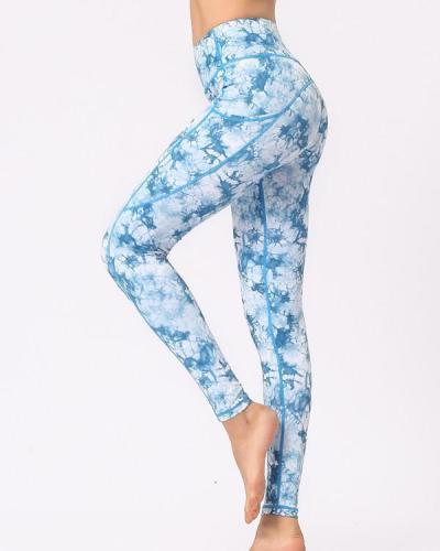 Tie dye Print High Rise Yoga Leggings