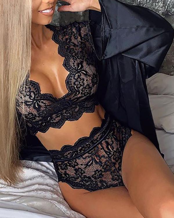 Sexy women Lace sleepwear Plus Size Lingerie