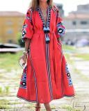 Vacation Tribal Printed Woman Maxi Dresses