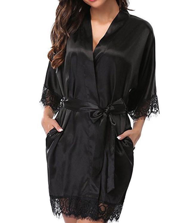 Fashionable sexy ice silk pajamas nightdress ladies pajamas