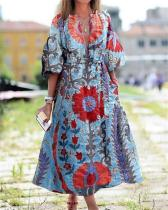 Street Style VacationTribal Print Maxi Dress