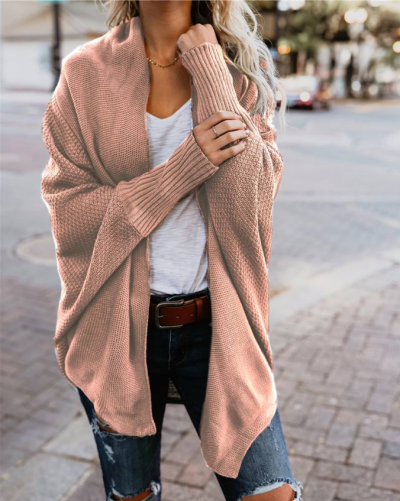 Knitted Casual Knitted Solid Cotton Winter Cardigan