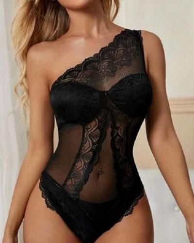 Heart Wants What It Wants Teddy Sexy Lace Lingerie