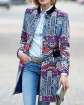 Patchwork Ethnic Print Long Sleeve Vintage Jacket