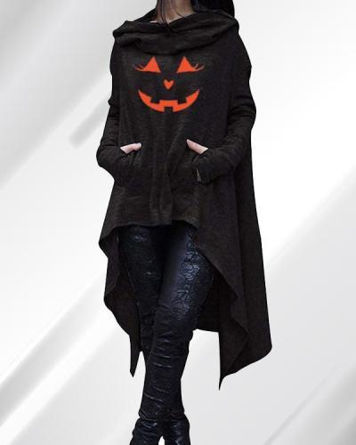 Women Halloween Top Long Sleeve Hoodies