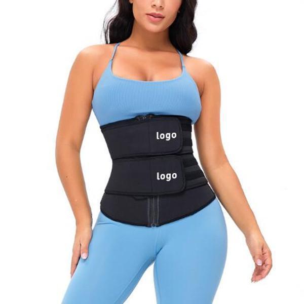 TOPMELON Fitness Zipper Double Belt  Waist Trainer Fashion Comfort