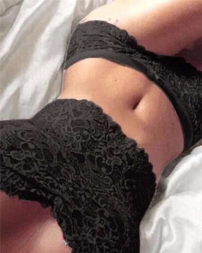 Sexy Wrapped Chest Lace Lingerie Set(3 set)