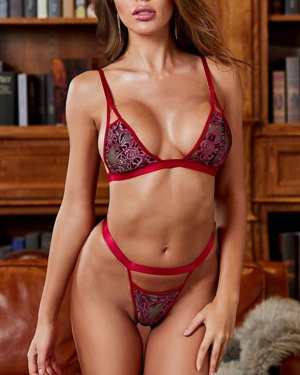 Always Rosy Bralette Set Sexy Lingerie