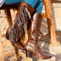 Tassel Leatherette Ankle Boot