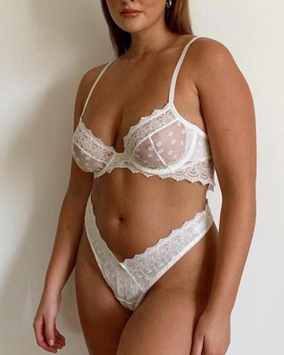 Women Lace bra set sexy lingerie set