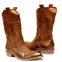 Womn Mid Calf Pointed Toe Chunky Heel Boots