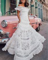 Plus Size  Lace Sexy Elegant Women Fashion Maxi Dresses