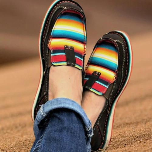 Women's Rainbow Colorblock Loafers