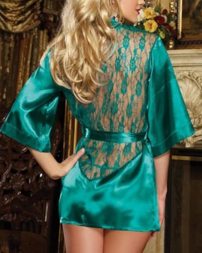 Fashionable sexy ice silk lace nightdress ladies pajamas