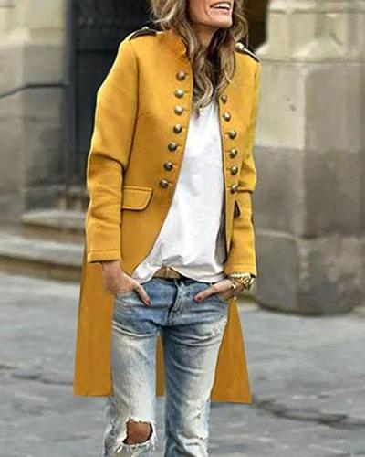 Mid Length Women  Fashion Officer Jacket