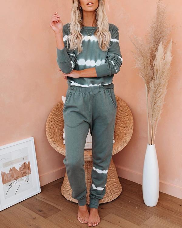 Comfy Loose  Sweatsuit Loungewear at Home Wear