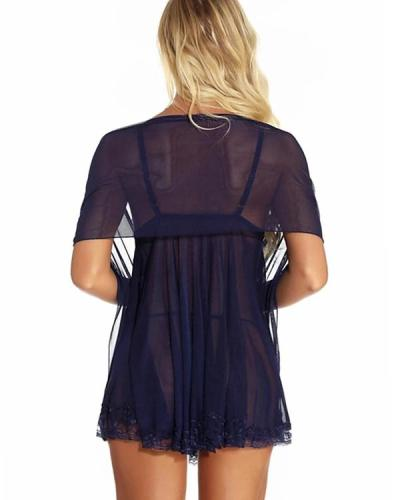 Women's Lace Backless Mesh Super Sexy Suits Nightwear
