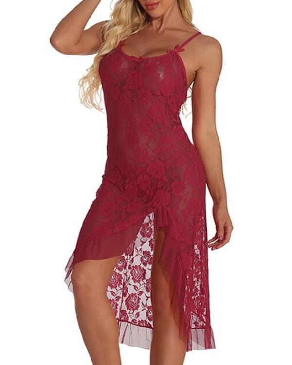 Women's Backless / Flower / Split Suits Nightwear