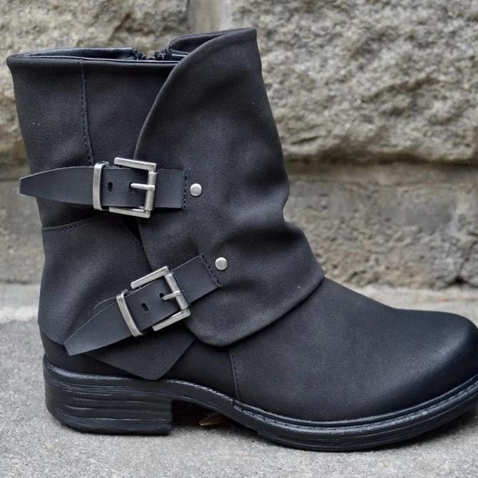 Button Pu Boots