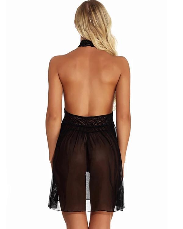 Women's Lace / Backless / Bow Suits Nightwear