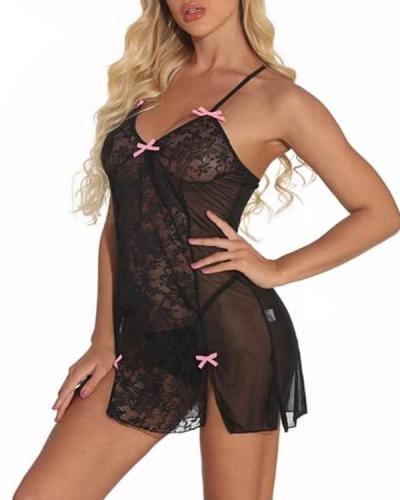 Women's Lace / Bow / Mesh Suits Nightwear