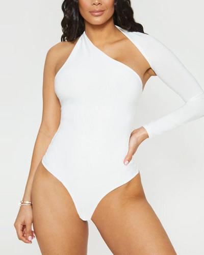 One shoulder Bodysuit base shirt