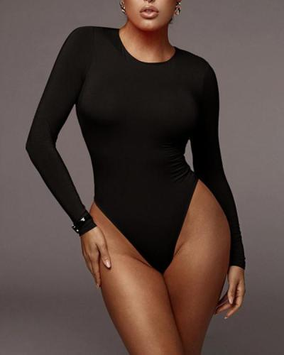 Long Sleeve Bodysuit All Season Rompers Tops