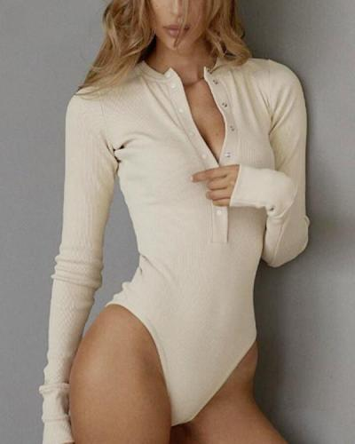 Long sleeve pit air eye jumpsuit Autumn and winter base shirt