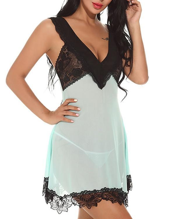 Time To Please Chemise Set