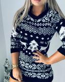 Women Christmas Holiday Sweater Sexy Dress