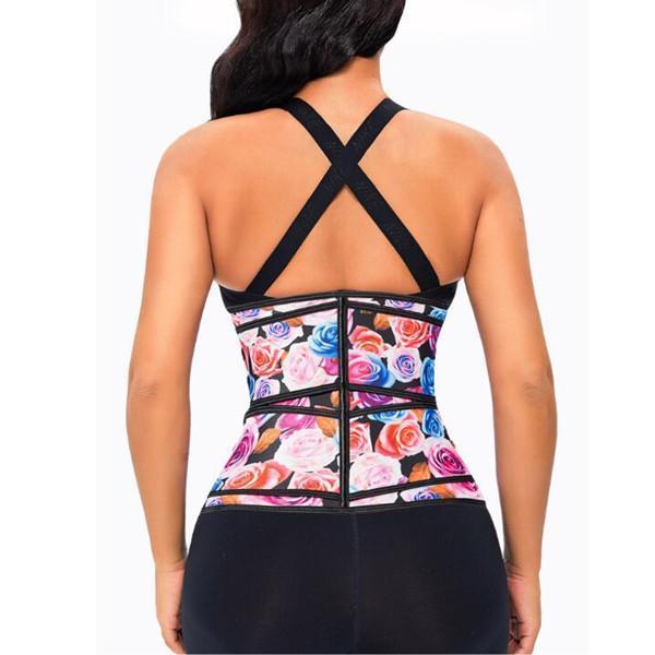 Fitness Zipper Double Flower Belt  Waist Trainer Fashion Comfort