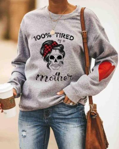 Women's Cotton Fleece Casual Print Warm Cozy Sweatshirt