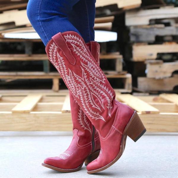 Western Chuny Heel Boots