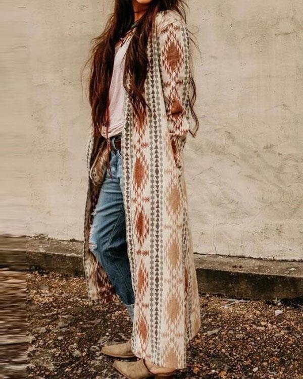 Women's Boho Cardigan Casual Coat