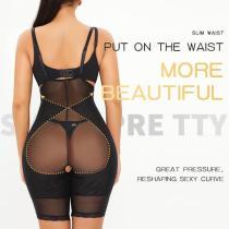 Women Tummy Control Bodysuit Peach Hip Shapewear