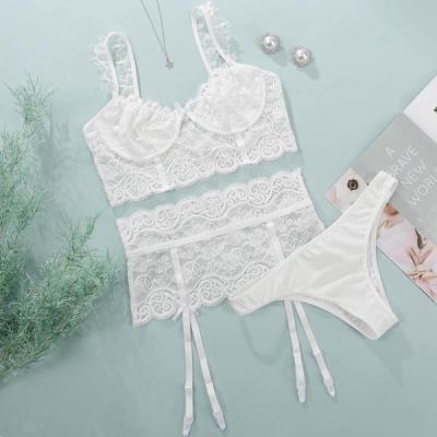 Women Sexy Lingerie Lace Bralette Set