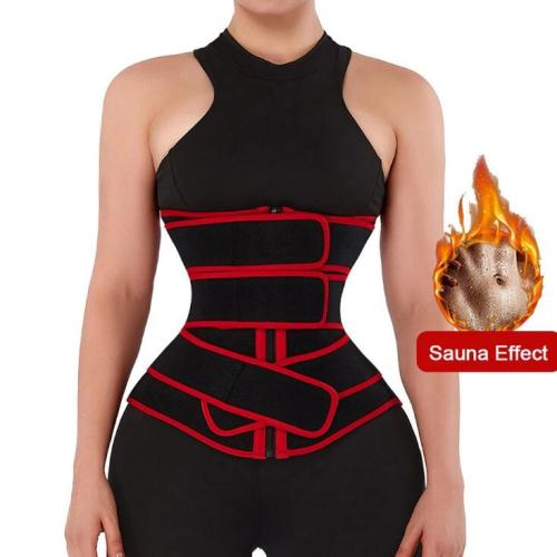 Neoprene Zip Three-Belt Waist Trainer
